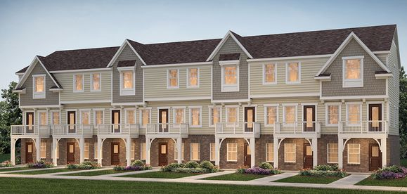7 unit town home building