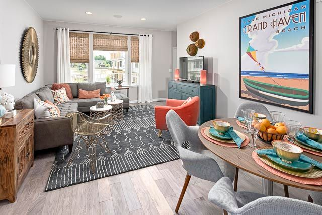 Living Area featured in the Sylvan at Long Lake Square By Robertson Brothers  in Detroit, MI