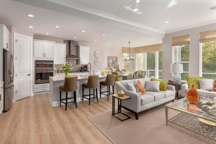 Living Area featured in the Raleigh at Brewster Village By Robertson Brothers  in Detroit, MI