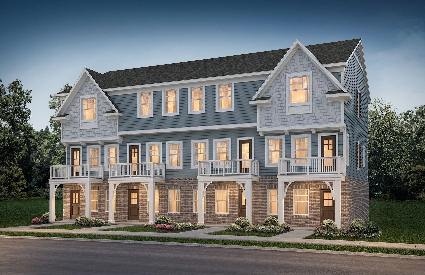 Aspen 4 unit town home building