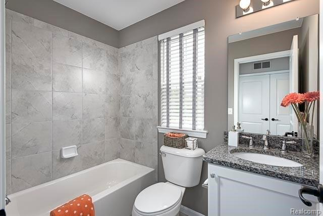 Bathroom featured in the Emerald at Long Lake Square By Robertson Brothers  in Detroit, MI