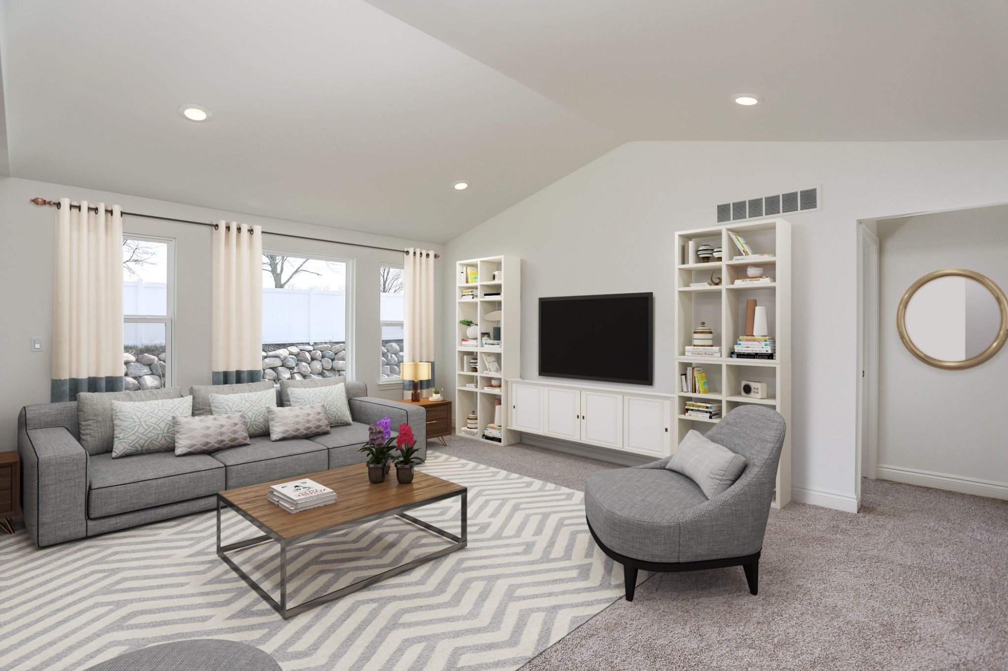 Living Area featured in the Richmond at Lakeview By Robertson Brothers  in Detroit, MI