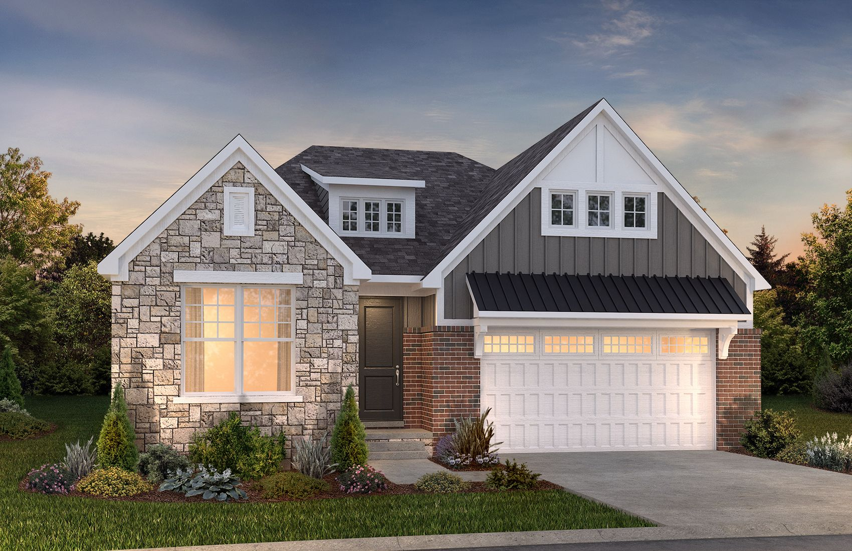 Exterior featured in the Raleigh at Brewster Village By Robertson Brothers  in Detroit, MI