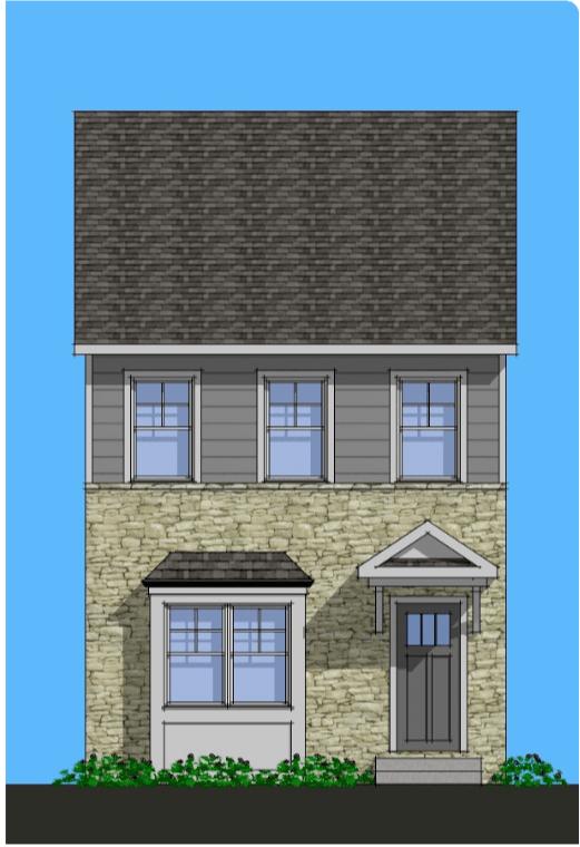Exterior featured in the Deerwood By Rocklyn Homes in Atlanta, GA