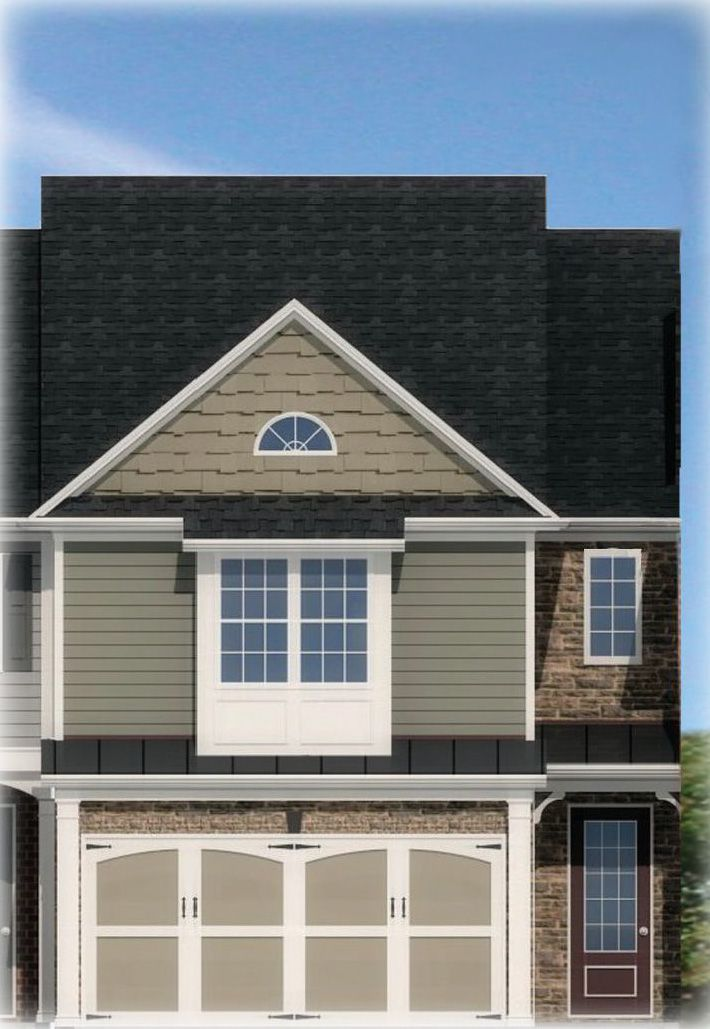 Exterior featured in the Redford By Rocklyn Homes in Atlanta, GA