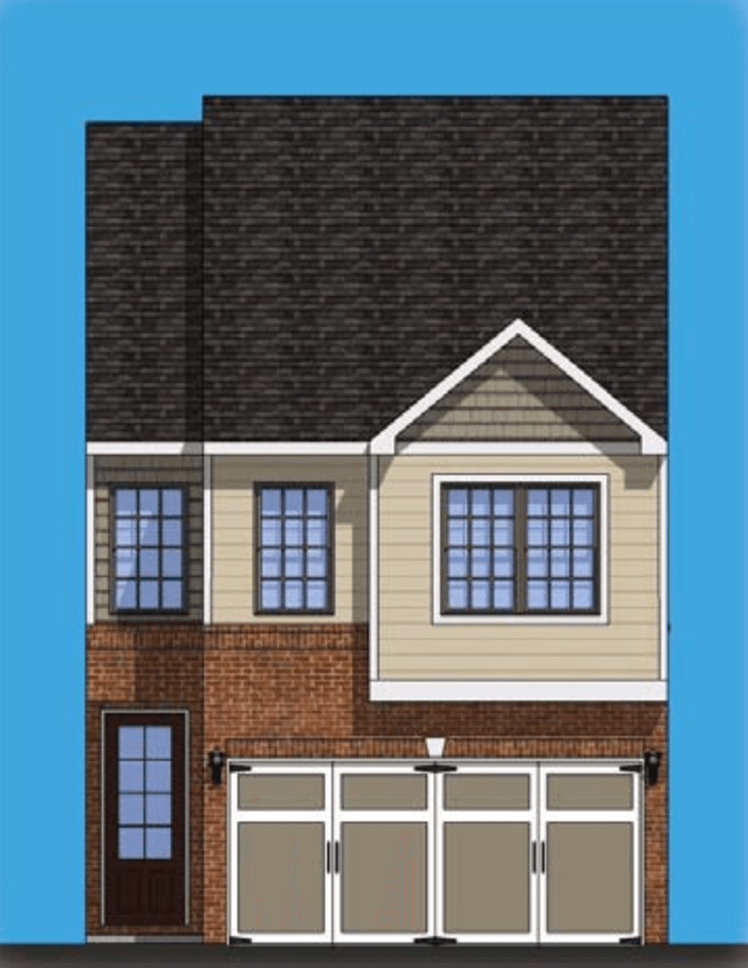 Exterior featured in the Hanover By Rocklyn Homes in Atlanta, GA