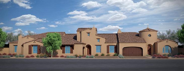 Residence Two, Residence Three, & Residence One :Spanish Colonial Exterior Style