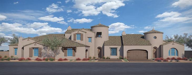 Exterior:Spanish Colonial: Residence Two, Residence Four and Residence One