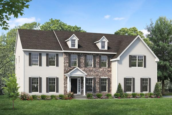 Exterior:The Worthington Model I shown with optional dormers and transom window