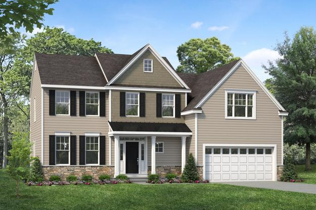 Exterior:Longwood IV by Rouse Chamberlin Homes shown with optional metal roof and stone water table