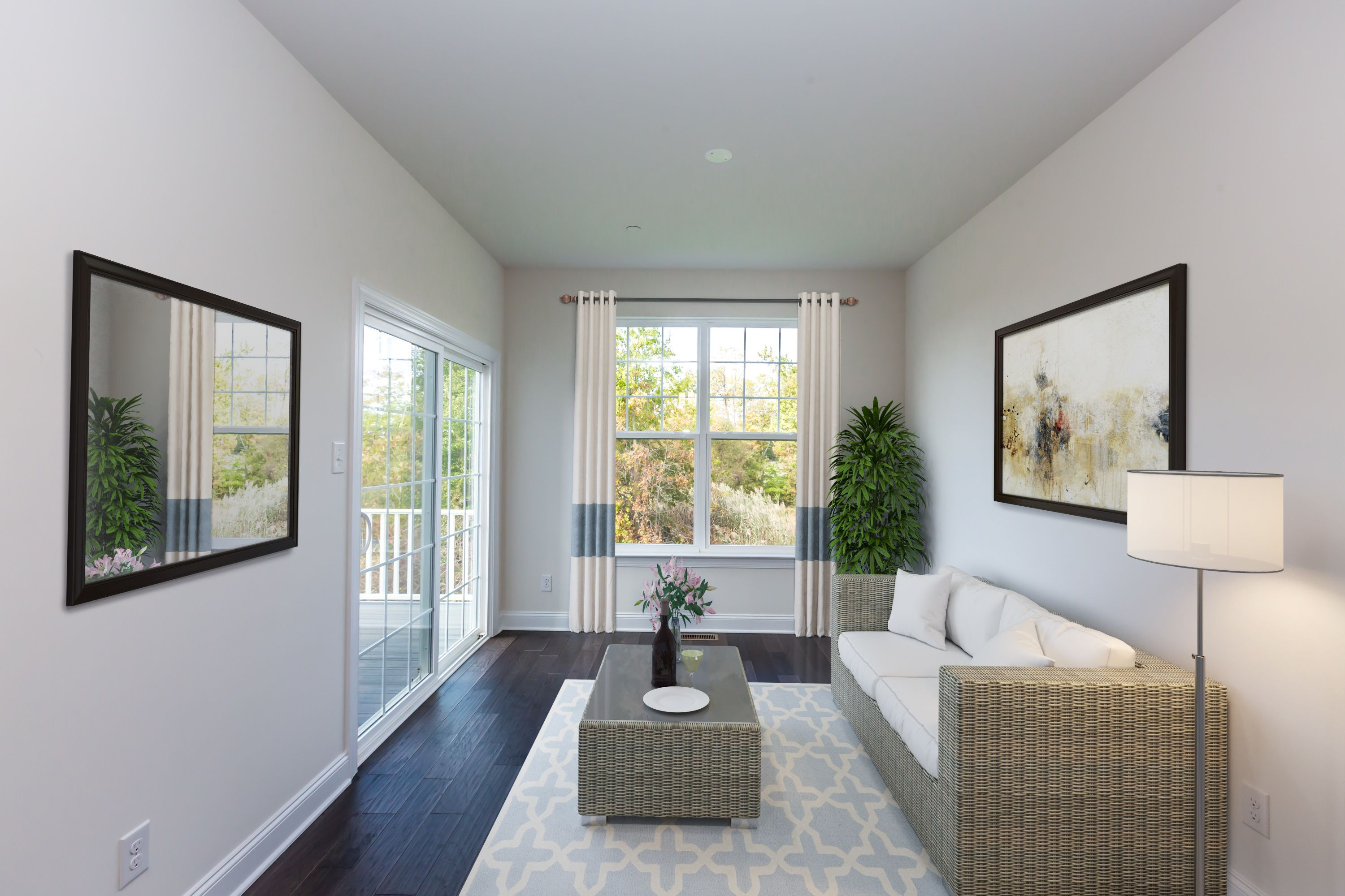 Living Area featured in the Prestley By Rouse Chamberlin Homes in Philadelphia, PA