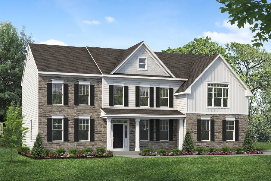 Exterior featured in the Cambridge By Rouse Chamberlin Homes in Philadelphia, PA