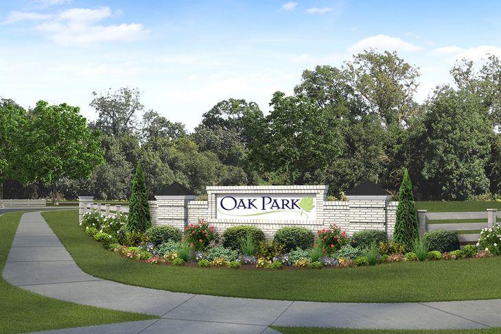 Royal Oaks a Division of Mattamy Homes, Oak Park, Entrance Monument