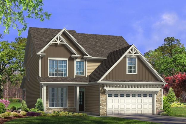 The Carteret, Ballentine Place, Single-Family Home, Holly Springs, New Home Construction, New Hom...:The Carteret | Ballentine Place | 217 Old Ballentine Way | Front Elevation Rendering