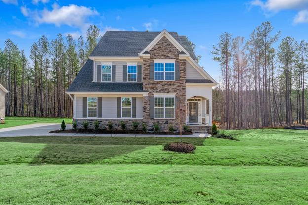 The Juniper, Royal Oaks a Division of Mattamy Homes, Front Exterior, Ballentine Place, 3-Story Ho...:Front Exterior - Ballentine Place Lot 9 The Juniper - 113 Old Ballentine Way