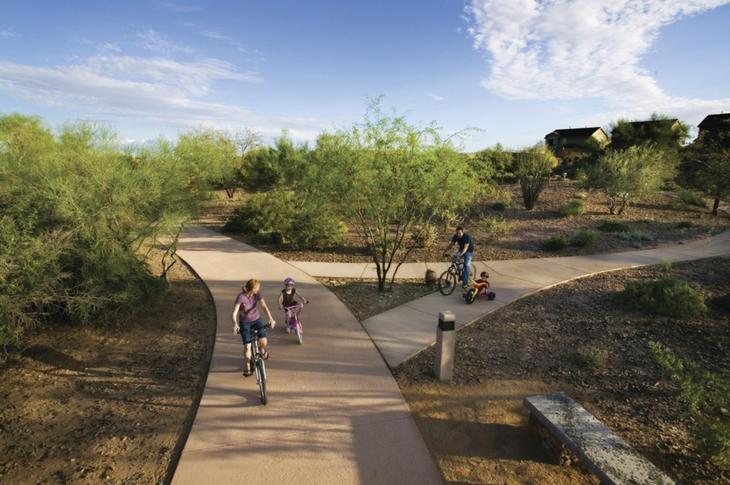 Bike Trail at Vistancia in Peoria, AZ 85383 William Ryan Homes Phoenix, AZ:William Ryan Homes Agave Ridge at Vistancia Bike Trail