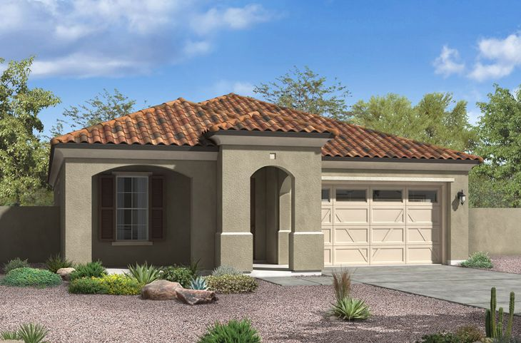 spanish colonial exterior elevation rendering crenshaw floor plan by william ryan homes phoenix:Crenshaw - Spanish Colonial