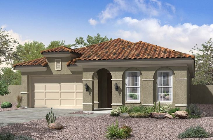 spanish colonial exterior elevation rendering jacobs floor plan william ryan homes:Jacobs - Spanish Colonial