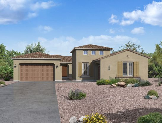 spanish exterior elevation rendering lyra floor plan by william ryan homes phoenix:Lyra - Spanish Exterior