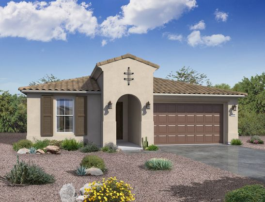 Sedona plan Spanish exterior elevation by William Ryan Homes Phoenix:Sedona Plan - Spanish Exterior Elevation