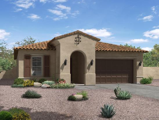 spanish colonial exterior elevation rendering spruce william ryan homes:Spruce - Spanish Colonial
