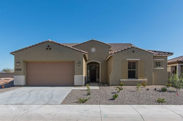 14411 S 178th Dr Goodyear AZ 85338 exterior front view of new construction home for sale William ...:14411 S 178th Dr - Tierra - Front Exterior