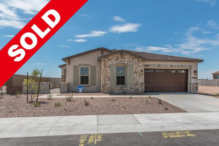 Front of Home Sold Alicante at Vistancia William Ryan Homes 12839 W. Pasaro Drive Peoria, AZ 8538...:Alicante at Vistancia - Viento - Front of Home - Sold