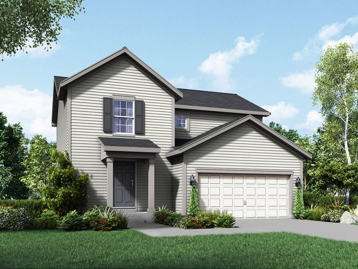 colonial exterior elevation rendering fremont by william ryan homes:Fremont - Colonial