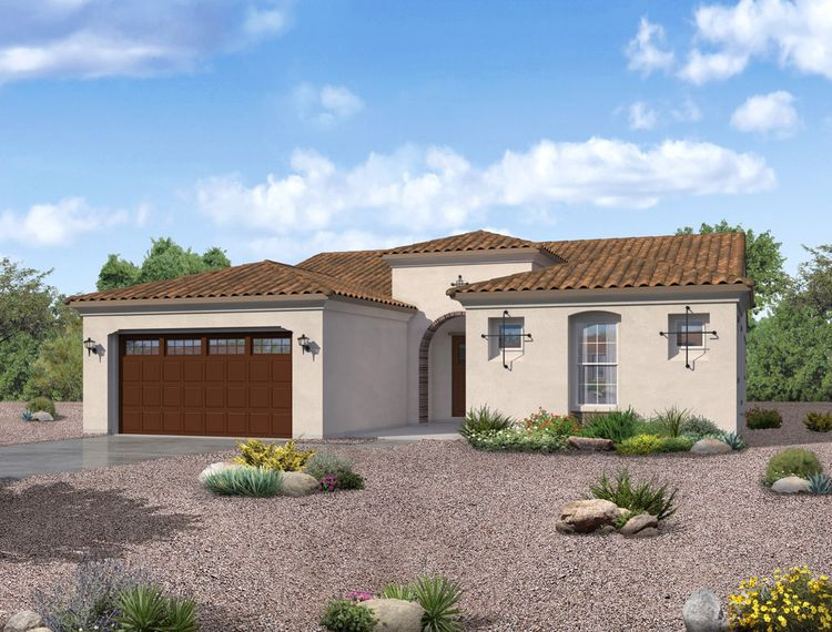 Tierra Spanish elevation available at Alicante at Vistancia Peoria AZ by William Ryan Homes Phoenix