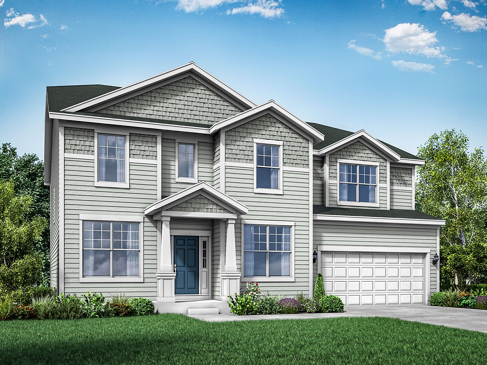 Exterior featured in the Jericho II By William Ryan Homes in Madison, WI