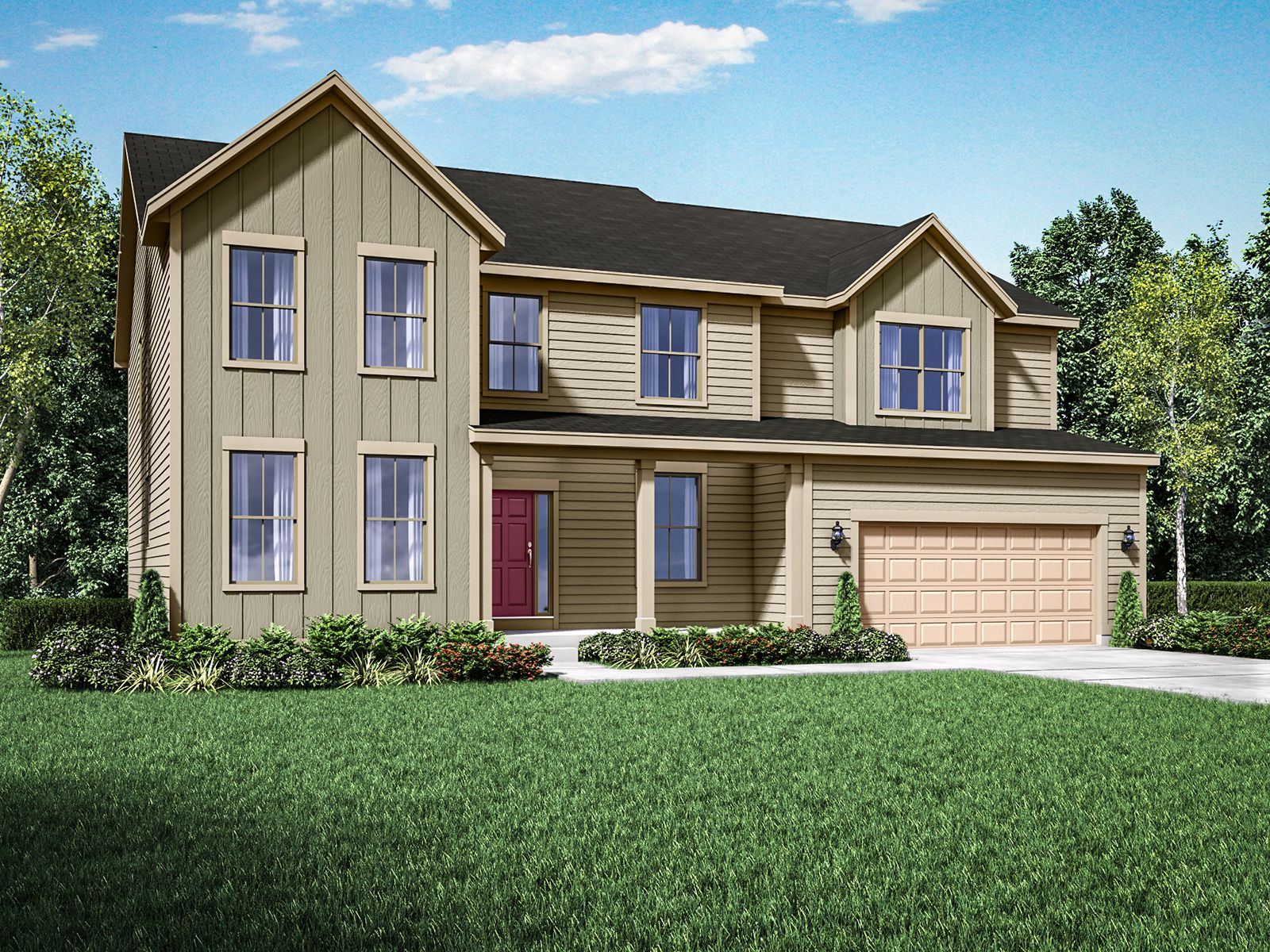 Exterior featured in the Jensen II By William Ryan Homes in Madison, WI