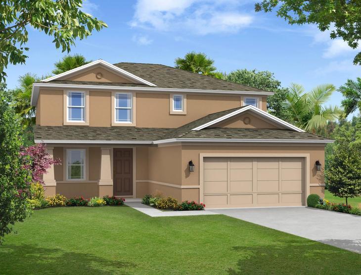 Saratoga Elevation 2 William Ryan Homes Tampa:Saratoga - Elevation 2