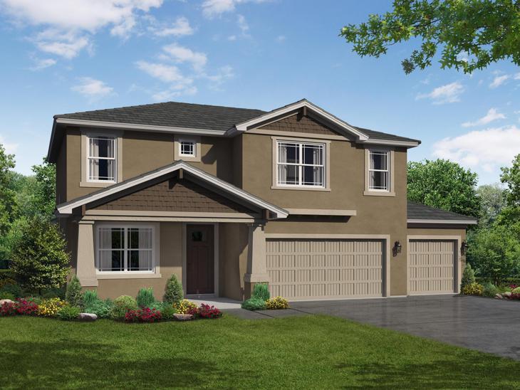 Sandalwood 3 car elevation by william ryan homes tampa:Sandalwood 3-Car Elevation - Available on 65' Wide Homesites