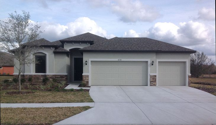 Sweetwater 3-Car with Stone Accent William Ryan Homes Tampa:Sweetwater - 3-Car with Stone Accent