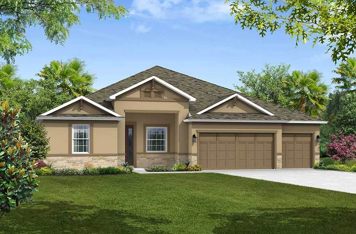 Sandestin Elevation 3 with Stone William Ryan Homes Tampa:Sandestin - Elevation 3