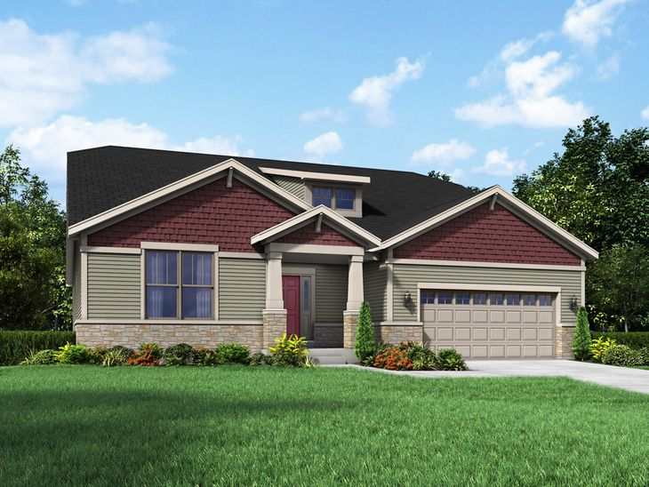Craftsman Exterior Elevation Coventry II Stonebridge Floor Plan Hawthorn Woods IL William Ryan Ho...:Coventry II - Stonebridge - Craftsman Exterior