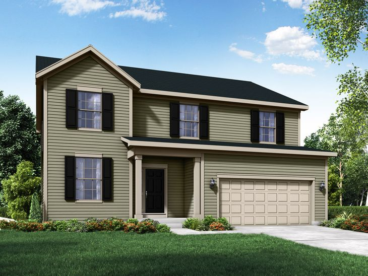 colonial exterior elevation rendering sulton by william ryan homes:Sulton - Colonial