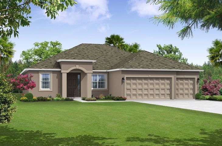 canaveral elevation 1 floor plan by william ryan homes tampa:Canaveral - Elevation 1
