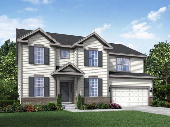 Williamsburg exterior elevation rendering Jericho II by William Ryan Homes:Jericho II - Williamsburg