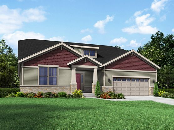 coventry II craftsman exterior elevation stonebridge rendering by william ryan homes:Coventry II - Stonebridge - Craftsman