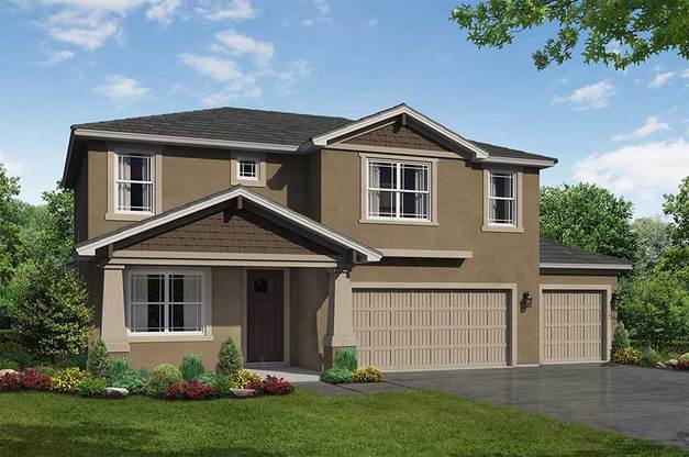 Sandalwood 3 car garage elevation 2 William Ryan Homes Tampa:Sandalwood 3-Car Garage - Elevation 2