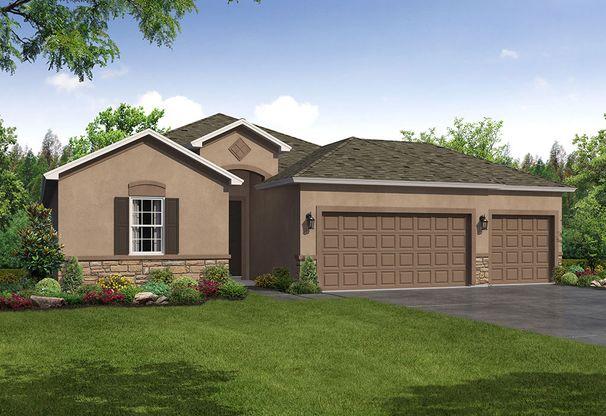 Sweetwater 3 car garage elevation 1 William Ryan Homes Tampa:Sweetwater 3-Car Garage - Elevation 1