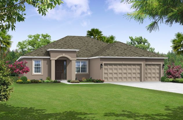 Canaveral elevation 1 William Ryan Homes Tampa:Canaveral - Elevation 1