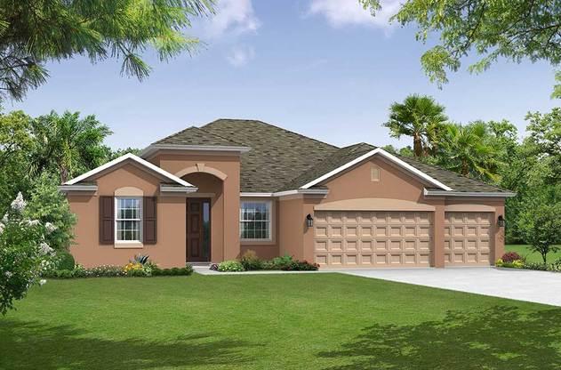 Sandestin elevation 1 William Ryan Homes Tampa:Sandestin - Elevation 1