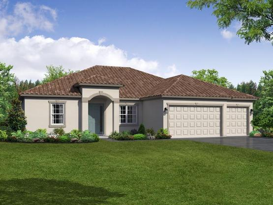 Carlingford elevation 1 by William Ryan Homes Tampa:Carlingford - Elevation 1