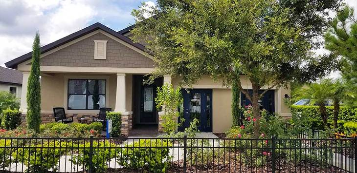 Sweetwater model home at LakeShore Ranch in Land O Lakes FL by William Ryan Homes Tampa:Sweetwater Model Home - Craftsman-Style Front Exterior