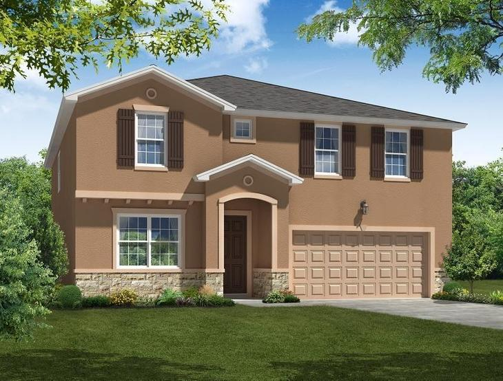 Juniper - Elevation 1 William Ryan Homes Tampa:Juniper - Elevation 1