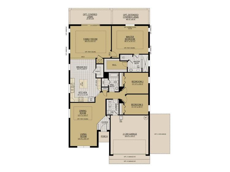 Sanibel floor plan William Ryan Homes Tampa