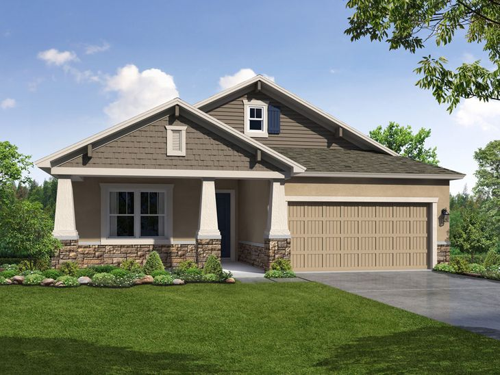 Sweetwater Craftsman Elevation 2 William Ryan Homes Tampa:Sweetwater - Craftsman Elevation 2