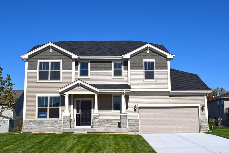 craftsman exterior sheridan II quick move in home hampshire highlands william ryan homes:Sheridan II - Craftsman Exterior - 432 Zachary Drive in Hampshire, IL
